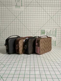 NWT COACH 91677 Mini Camera Bag Signature PVC Logo Classic C