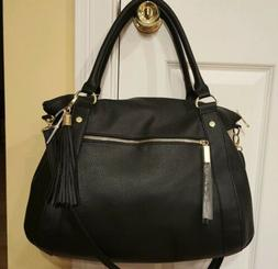 NWT Steve Madden B Marlow Satchel Black X Large Handbag Cros