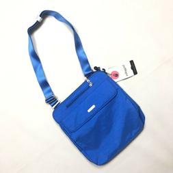 NWT Baggallini Blue Synergy Crossbody Nylon Bag with RFID Wr