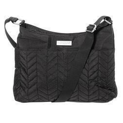 NWT baggallini Chevron Quilted Crossbody Bag Black lightweig