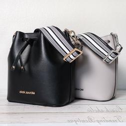 nwt eden xs leather bucket bag crossbody