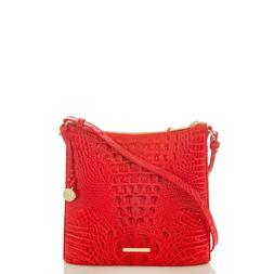 NWT Brahmin Katie Candy Apple Red Melbourne Embossed Leather