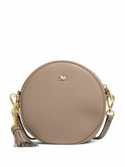 NWT Michael Kors Mercer Circle Round Canteen Crossbody Bag T