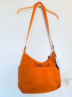 NWT Baggallini Pacific Orange Hobo Crossbody Travel Bag with