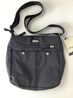 NWT Baggallini Snap It Large Crossbody Bag Black with Gray I
