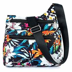 STUOYE Nylon Multi-Pocket Crossbody Purse Bags for Women Tra