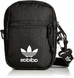 adidas Originals Unisex Festival Crossbody Bag, Black/White,