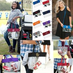 PERSONALIZED GAME DAY STADIUM CLEAR SEE THROUGH CROSSBODY PU