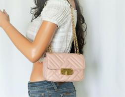 MICHAEL KORS PEYTON SMALL SHOULDER FLAP CROSSBODY QUILTED LE