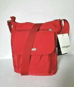 BAGGALLINI POCKET TOWN RED APPLE CROSSBODY SHOULDER BAG SLIM