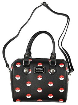 Loungefly Pokemon Pokeball Print Black Duffle Purse