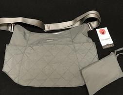 Baggallini Quilted Hobo Tote Grey Crossbody Cargo Bag Purse