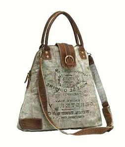 Myra Bags Vintage Gerster Upcycled Canvas Crossbody Bag for