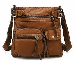 Scarleton Small Multi Pocket Crossbody Bag for Women, Ultra