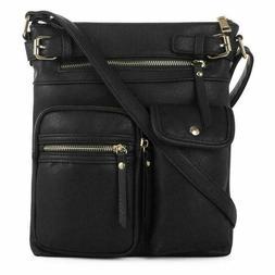 SG SUGU Lightweight Medium Crossbody Bag with Multi Pocket f