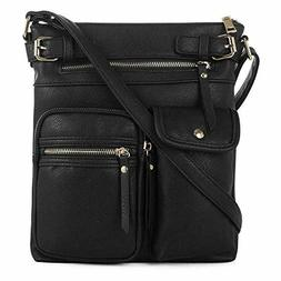 SG SUGU Lightweight Medium Crossbody Bag with Multi Pocket f