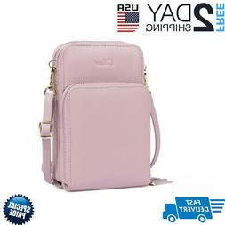 Small Crossbody Bag for Women Leather Cellphone Shoulder Pur