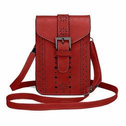 Small Crossbody Bag Women Triple Zip Pocket Shoulder Bags La