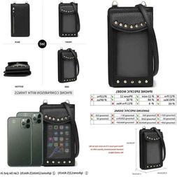 Small Leather Shoulder Bag, Crossbody Bag Cellphone Wallet P