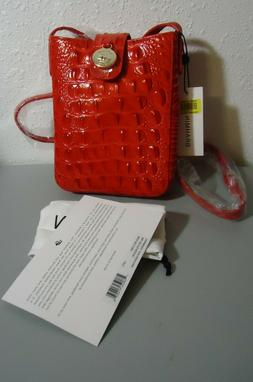 Soldout Brahmin Croco Leather Candy Apple Melbourne Red Marl