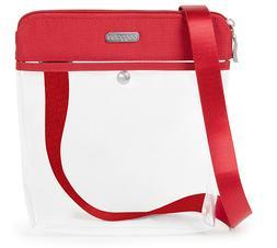 baggallini Stadium Clear Pocket Crossbody RED CrossBody Bag