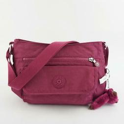 KIPLING SYRO Travel Shoulder CrossBody Bag Stone Purple