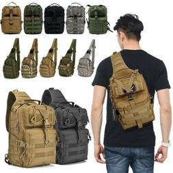 Tactical Backpack Military Shoulder Crossbody Bag Hiking Cam