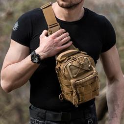 Tactical Military Crossbody Mens Shoulder Bag Chest Pack Cam