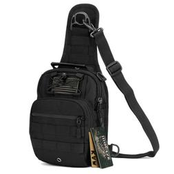 IDOGEAR Tactical Shoulder Bag Sling Pack Daypack Chest Cross