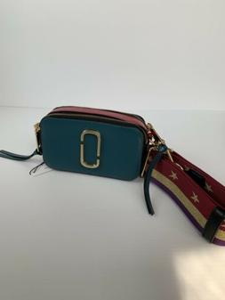 the snapshot leather crossbody bag pacific multi