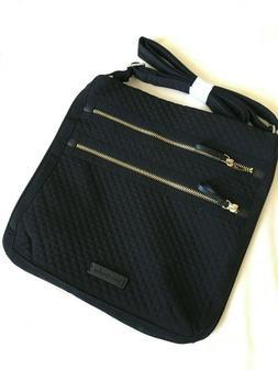 Vera Bradley Triple Zip Hipster Crossbody Bag Black NWT