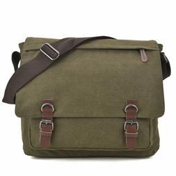 Dasein Unisex Canvas Messenger Crossbody Large Bag Vintage M