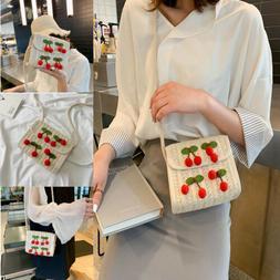 US Beach Shoulder Bags for Women Summer Crossbody Straw Knit