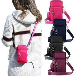 US Fashion Mini Cross-Body Shoulder Strap Cell Phone Pouch W