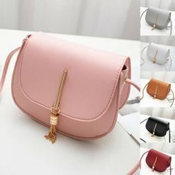 US New Women Fashion PU Leather Small Shoulder Bag Ladies Cr