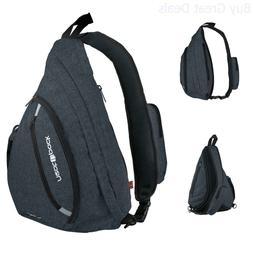 Versatile Canvas Sling Bag/Urban Travel Backpack, Black | We