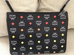 MCM Visetos Pouch Crossbody Bag Spectrum Diamond Black