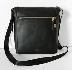 Tumi Voyageur Canton Leather Crossbody Bag - Black $400 NWT
