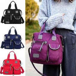 Waterproof Women Lady Nylon Large Shoulder Messenger Bag Cap