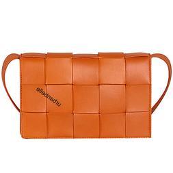 Weaving Bag Cassette Bag Genuine Leather Crossbody Shoulder