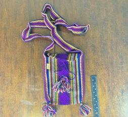 PINZON woman crossbody Bag Boho Purple Hippie Purse shoulder
