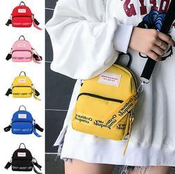 Woman Crossbody Bags Simple Canvas Shoulder Bags Ladies Mini