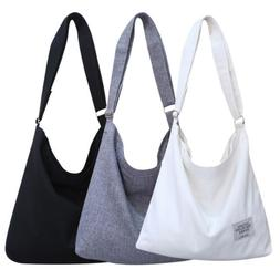 Women Canvas Hobo Crossbody Shoulder Bag Large Tote Messager