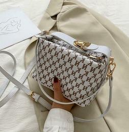 Women Checkered Leather Cross body Purse Monogram Handbag Cl