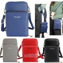Women Cross-body Small Cell Phone Case Shoulder Bag Pouch Ha