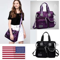 Women Crossbody Bag Canvas Handbag Shoulder Purse Medium Siz