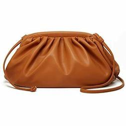 Women Dumpling Clutch Purse Small PU Leather Crossbody Bags