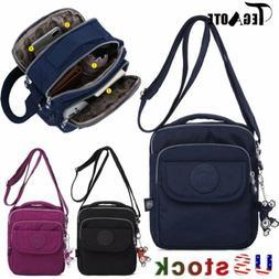 TEGAOTE Women Girls Casual Nylon Small Crossbody Bag Purse M