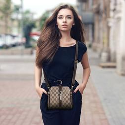 Women Handbag PU Leather Satchel Shoulder Bag Tote Ladies Me