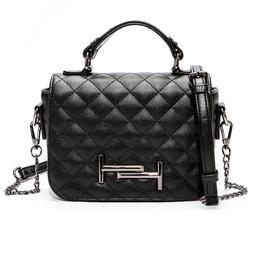 Women Ladies Fashion PU Leather Shoulder Bag Crossbody Solid